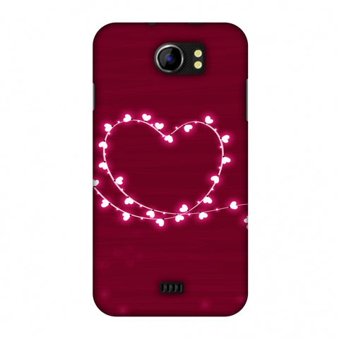 Heart Lights Slim Hard Shell Case For Micromax Canvas 2 A110