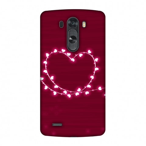 Heart Lights Slim Hard Shell Case For LG G4