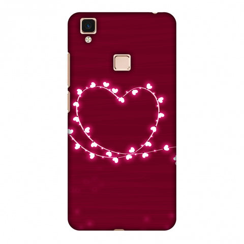 Heart Lights Slim Hard Shell Case For Vivo V3 Max