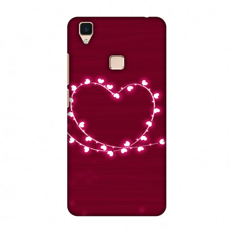Heart Lights Slim Hard Shell Case For Vivo V3