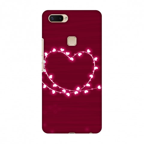 Heart Lights Slim Hard Shell Case For Vivo X20 Plus