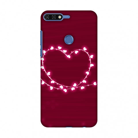 Heart Lights Slim Hard Shell Case For Huawei Honor 7C