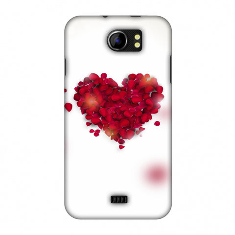 Rose Heart Slim Hard Shell Case For Micromax Canvas 2 A110