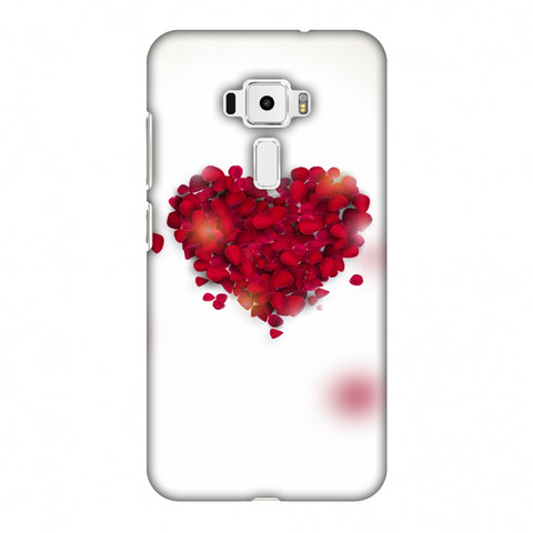 Rose Heart Slim Hard Shell Case For Asus Zenfone 3 ZE520KL