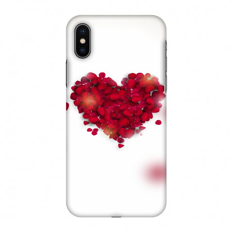 Rose Heart Slim Hard Shell Case For Apple iPhone X