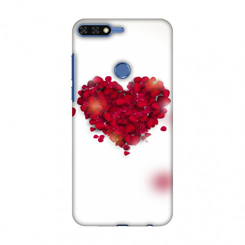 Rose Heart Slim Hard Shell Case For Huawei Honor 7C