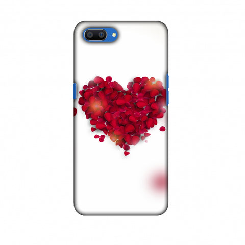 Rose Heart Slim Hard Shell Case For Oppo Realme C1
