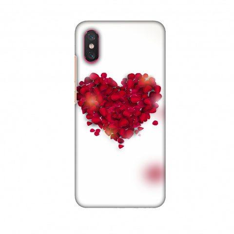 Rose Heart Slim Hard Shell Case For Xiaomi Mi 8 Pro