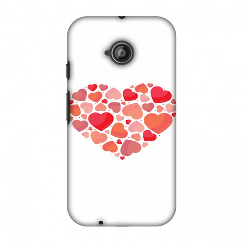 Hearts Within A Heart Slim Hard Shell Case For Motorola Moto E 2nd Gen