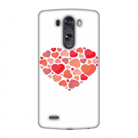Hearts Within A Heart Slim Hard Shell Case For LG G4