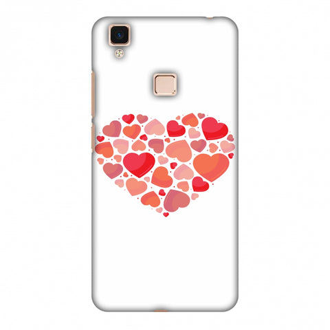 Hearts Within A Heart Slim Hard Shell Case For Vivo V3 Max