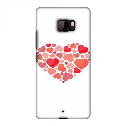 Hearts Within A Heart Slim Hard Shell Case For HTC U Ultra