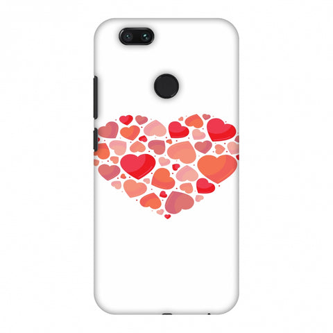 Hearts Within A Heart Slim Hard Shell Case For Xiaomi MI A1-5X
