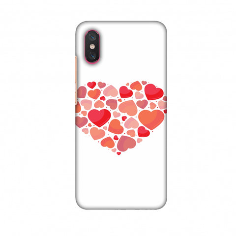 Hearts Within A Heart Slim Hard Shell Case For Xiaomi Mi 8 Pro