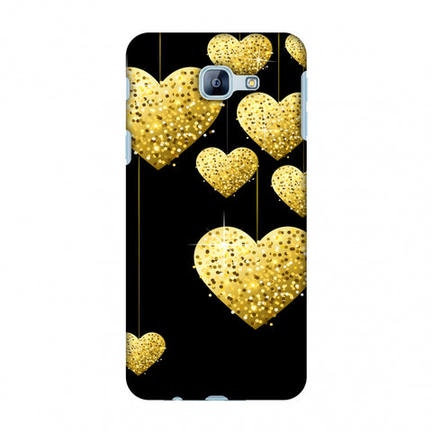 Golden Hanging Hearts Slim Hard Shell Case For Samsung Galaxy A8 2016