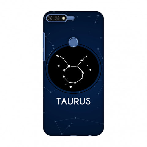 Stars Taurus Slim Hard Shell Case For Huawei Honor 7C