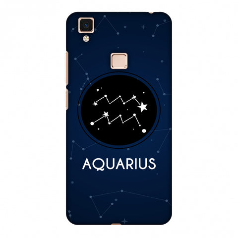 Stars Aquarius Slim Hard Shell Case For Vivo V3 Max