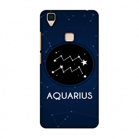 Stars Aquarius Slim Hard Shell Case For Vivo V3