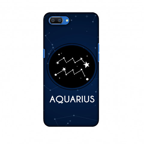 Stars Aquarius Slim Hard Shell Case For Oppo Realme C1