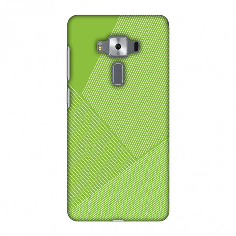 Carbon Fibre Redux Pear Green 1 Slim Hard Shell Case For Asus Zenfone 3 Deluxe ZS570KL