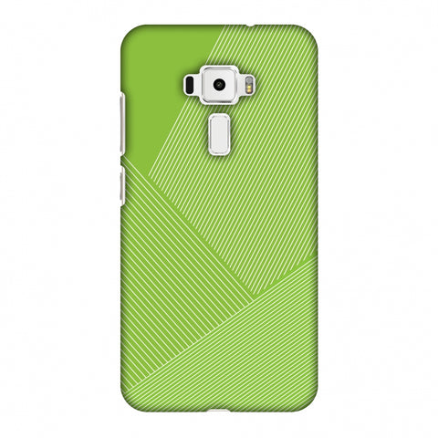Carbon Fibre Redux Pear Green 1 Slim Hard Shell Case For Asus Zenfone 3 ZE520KL
