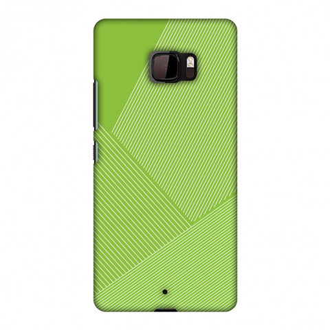 Carbon Fibre Redux Pear Green 1 Slim Hard Shell Case For HTC U Ultra