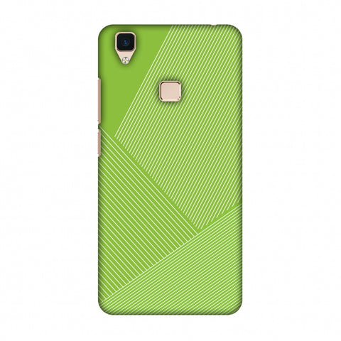 Carbon Fibre Redux Pear Green 1 Slim Hard Shell Case For Vivo V3