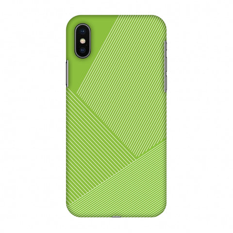 Carbon Fibre Redux Pear Green 1 Slim Hard Shell Case For Apple iPhone X