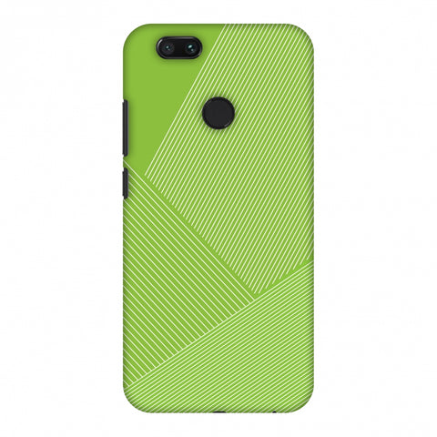 Carbon Fibre Redux Pear Green 1 Slim Hard Shell Case For Xiaomi MI A1-5X
