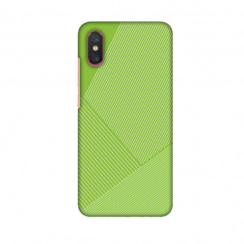 Carbon Fibre Redux Pear Green 1 Slim Hard Shell Case For Xiaomi Mi 8 Pro