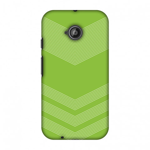 Carbon Fibre Redux Pear Green 2 Slim Hard Shell Case For Motorola Moto E 2nd Gen