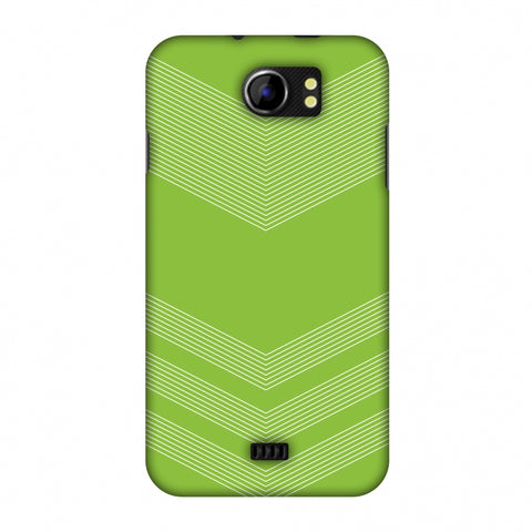 Carbon Fibre Redux Pear Green 2 Slim Hard Shell Case For Micromax Canvas 2 A110