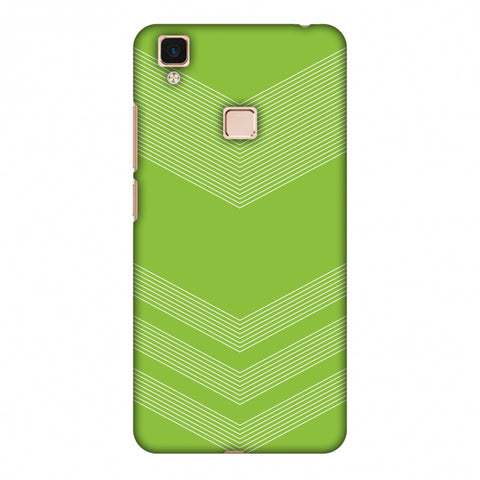 Carbon Fibre Redux Pear Green 2 Slim Hard Shell Case For Vivo V3 Max