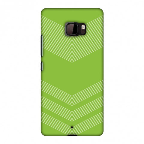 Carbon Fibre Redux Pear Green 2 Slim Hard Shell Case For HTC U Ultra