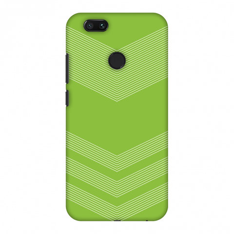 Carbon Fibre Redux Pear Green 2 Slim Hard Shell Case For Xiaomi MI A1-5X