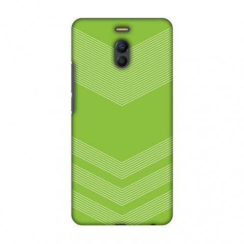 Carbon Fibre Redux Pear Green 2 Slim Hard Shell Case For Meizu Note 6