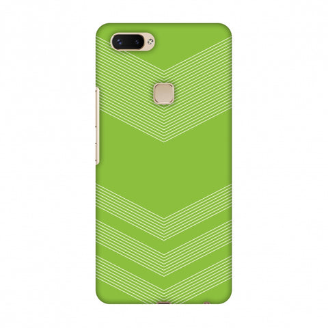 Carbon Fibre Redux Pear Green 2 Slim Hard Shell Case For Vivo X20 Plus