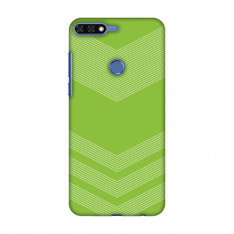 Carbon Fibre Redux Pear Green 2 Slim Hard Shell Case For Huawei Honor 7C