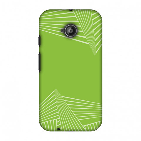 Carbon Fibre Redux Pear Green 3 Slim Hard Shell Case For Motorola Moto E 2nd Gen