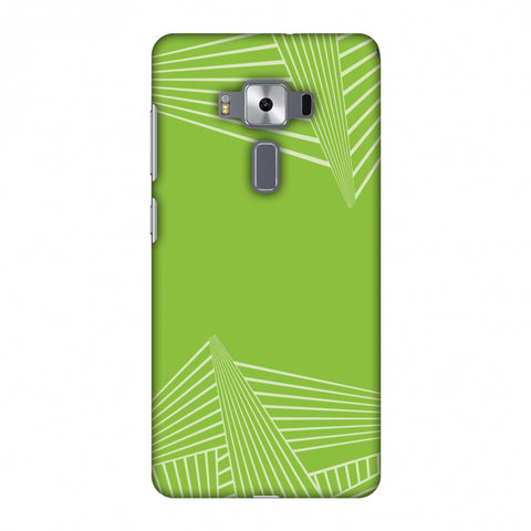 Carbon Fibre Redux Pear Green 3 Slim Hard Shell Case For Asus Zenfone 3 Deluxe ZS570KL