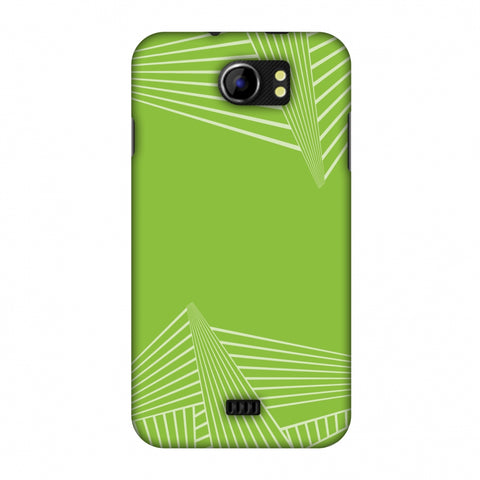 Carbon Fibre Redux Pear Green 3 Slim Hard Shell Case For Micromax Canvas 2 A110
