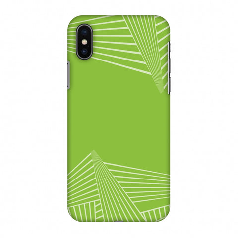 Carbon Fibre Redux Pear Green 3 Slim Hard Shell Case For Apple iPhone X