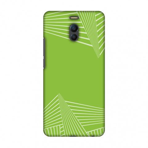 Carbon Fibre Redux Pear Green 3 Slim Hard Shell Case For Meizu Note 6