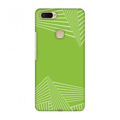 Carbon Fibre Redux Pear Green 3 Slim Hard Shell Case For Vivo X20 Plus