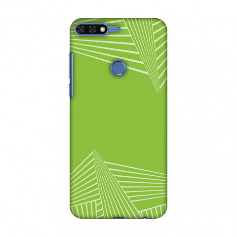 Carbon Fibre Redux Pear Green 3 Slim Hard Shell Case For Huawei Honor 7C
