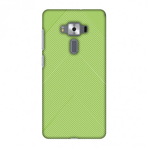 Carbon Fibre Redux Pear Green 4 Slim Hard Shell Case For Asus Zenfone 3 Deluxe ZS570KL