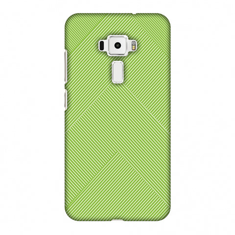 Carbon Fibre Redux Pear Green 4 Slim Hard Shell Case For Asus Zenfone 3 ZE520KL