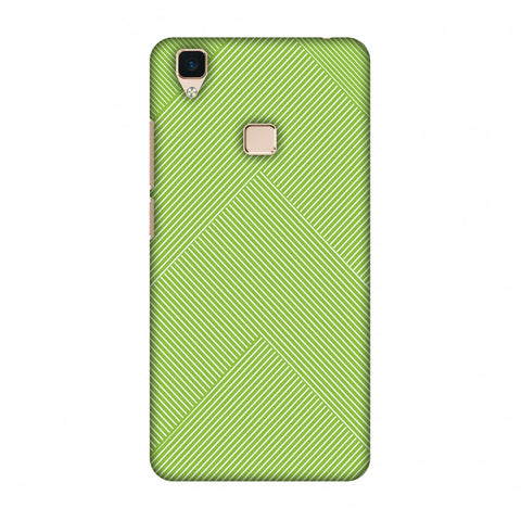 Carbon Fibre Redux Pear Green 4 Slim Hard Shell Case For Vivo V3