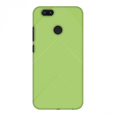 Carbon Fibre Redux Pear Green 4 Slim Hard Shell Case For Xiaomi MI A1-5X