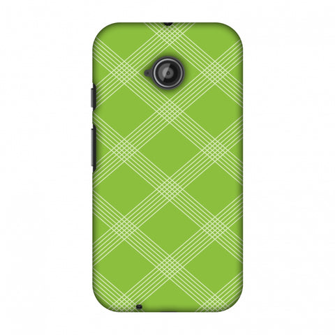 Carbon Fibre Redux Pear Green 5 Slim Hard Shell Case For Motorola Moto E 2nd Gen
